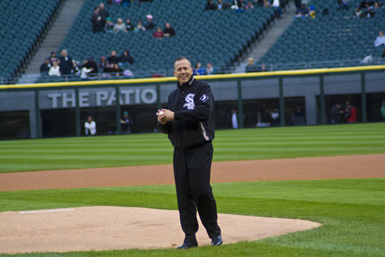 The Key Fm Pastor Schaap Throws First Pitch